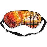 Sleeping Eye Mask,Bel Arbre D'Érable Peignant Des Masques Drôles De Sommeil D'Impression Pour Le Coucher À La Maison