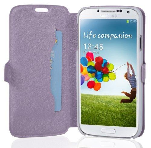 Cadorabo - Funda Book Style en Diseño Fino para Samsung Galaxy S4 GT-I9500 / I9505 – Etui Case Cover Carcasa Caja Protección con Tarjetero y Función de Soporte en Lila