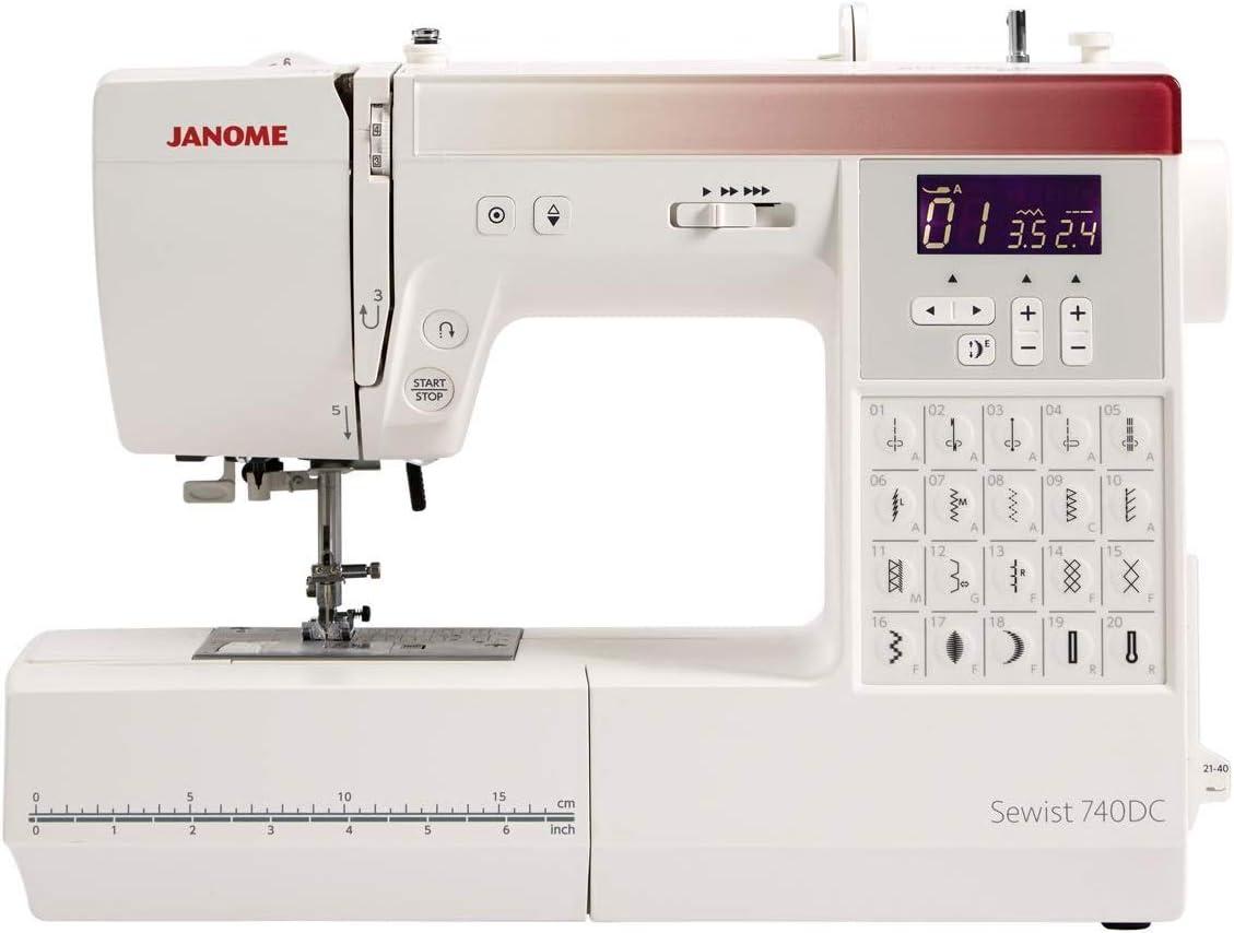 Janome 740DC Sewing Atlanta Mall Machine with Bundle Sale special price Bonus