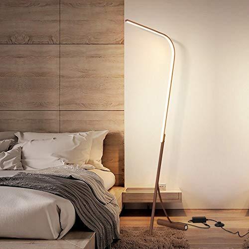 Raelf LED-Bodeneinbauleuchte, moderne Stehleuchte 3-Ebene Helligkeit Licht Fernbedienung vertikal Stehlampe warme Farbe Licht Büro Wohnzimmer Schlafzimmer Nachtstehlampe Licht 17W stehen