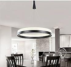 GOWE Modern Circles LED Acrylic Ring D30CM Chandelier Pendant Lamp suspension Light lighting 110V/ 240V body color: 1 ring...