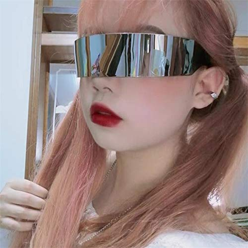 emituofo Gafas de sol japonesas con tecnología Cool Sense Of Future, Hard Sister, personalizadas, para fiesta, discoteca, bar, One Street Shooting (talla : negro con borde blanco Mercurio)