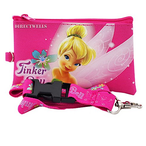 Disney Tinkerbell Pink Lanyard With Detachable Purse