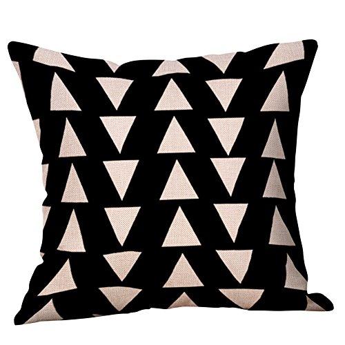 ZHFZD Oversized schattige kussens, zachte stof zwart-wit patroon kussensloop katoen linnen kussensloop ZHFZD 45cm*45cm G