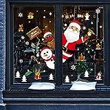 ❊100% nuovo di zecca e alta qualità. È fatto di adesivo in PVC adesivo statico ecologico, non tossico, protezione ambientale, impermeabile. ❊ Confezione: 2 x 30 cm * 90 cm. Non esitare a decorare la tua festa di Natale! ❊ Fantastica decorazione natal...