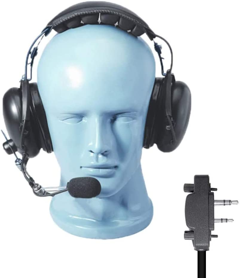 Radio Headset and Boom Mic 1 year warranty Heavy Duty Department store The Over Noise Cancelling