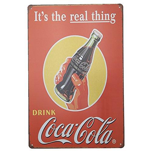 MARQUISE & LOREAN | Coca Cola Placas Decorativas Pared Cocacola Chapas Vintage Metálicas Cocacola Elígeme (20 x 30 cm, Roja y Amarilla)