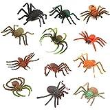 TOYMYTOY Spinnen-Spielwaren, Plastikmodell scherzt Spielzeug-Spinnen-Halloween-Partei-Bevorzugung,...