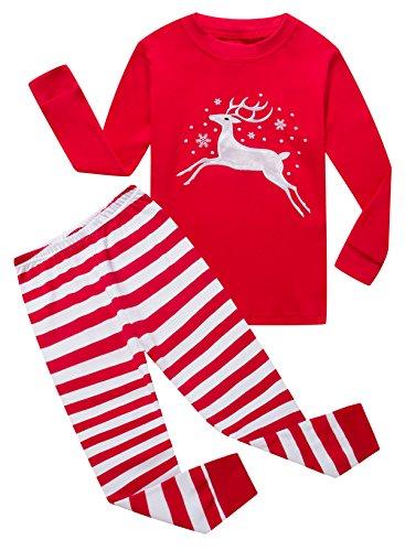 Family Feeling Baby Girls Long Sleeve Christmas Pajamas Sets 100% Cotton Pyjamas Toddler Infant Kids 12-18 Months Reindeer