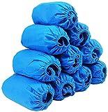*YX 250 parells de fonguis d'un sol ús per a sabates, gruixudes, resistents a la pols i transpirables, per a construcció, protecció del sòl de moqueta