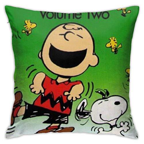 YUNYANG The Charlie Brown& Show Throw Fundas de almohada 45,7 x 45,7 cm Forma cuadrada Funda de cojín decorativa para sofá almohada