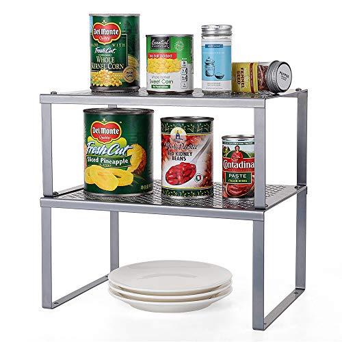 HAITRAL Regaleinsatz Für Küchenschrank | Küchenregal Organizer - Stapelbar Erweiterbares...