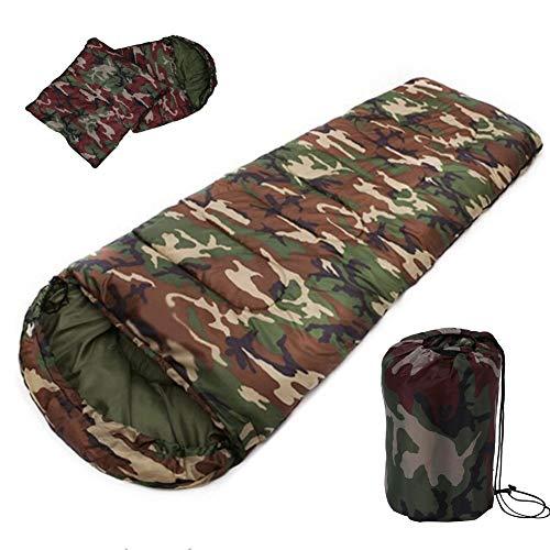 Sac de couchage de camping en coton, 15 ~ 5 degrés, style enveloppe, armée ou militaire ou camouflage, sac de couchage Nemo (couleur : vert)