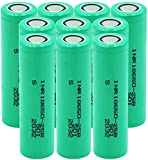 Batería De Iones De Litio Inr 18650-25R 3,7 V 2500 Mah Corriente De Descarga 20A Pilas De Repuesto Recargables con Batería De Litio De 10 Piezas