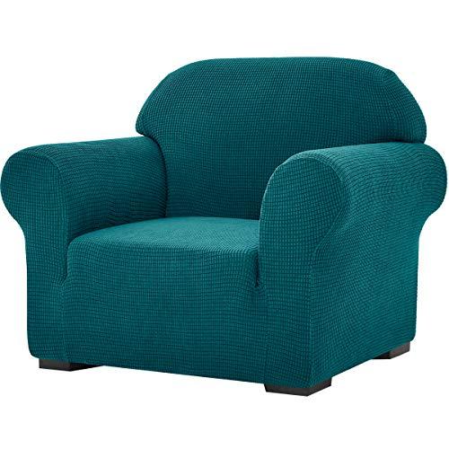 subrtex Stretch-Sofabezug, 1 Stück, für Wohnzimmer, Sessel, weiche Möbel, waschbar, Couch, Schonbezüge für Kinder/Hunde (Stuhl, Blaugrün)