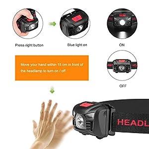 Linkax Linterna Frontal LED USB Recargable Linterna de Cabeza Alta Potencia Luz Frontal Lampára de Cabeza con 5 Modos Para Ciclismo Senderismo Camping Pesca