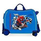 Marvel Spiderman Geo Maleta Infantil azul 50x38x20 cms Rígida ABS Cierre combinación 34L 2,1Kgs 4 Ruedas Equipaje de Mano