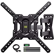 "USX MOUNT Full Motion Swivel Articulating Tilt TV Wall Mount Bracket for 26-55"" LED, OLED and 4K TVs, TV Mount Fit for 32, 40, 50 TV with VESA Up to 400x400mm-Weight Capacity Up to 60lbs"