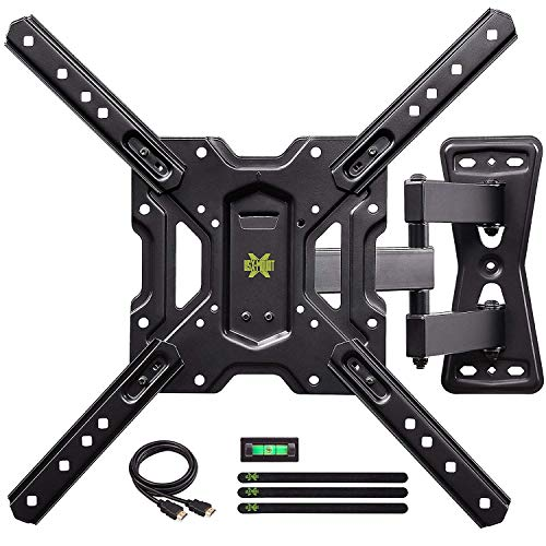 USX MOUNT Full Motion Swivel Articulating Tilt TV Wall Mount Bracket for 26-55' LED, OLED and 4K TVs, TV Mount Fit for 32, 40, 50 TV with VESA Up to 400x400mm-Weight Capacity Up to 60lbs