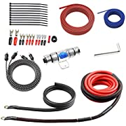 ROCKRIX Car Audio Wiring Kit - 8 Gauge 20 Ft Power Cable - Complete Audio Amplifier Installation & Wiring Kit