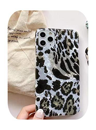 Hopereo Funda de teléfono con estampado de leopardo para iPhone 11 11Pro Max Xs Max Xr X Se 2020 8 7 Plus lujo Soft Back Cases moda Shell-H-para Iphone Se 2020