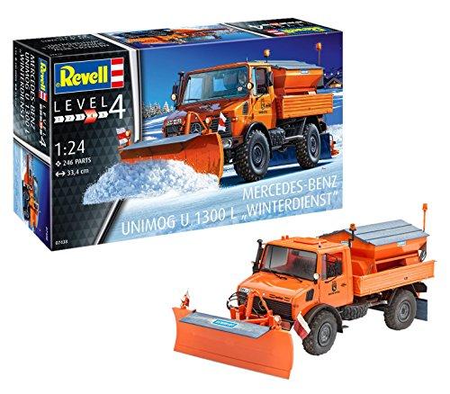 Revell 07438 Modellbausatz Unimog U1300L Winterdienst