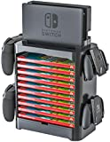 Skywin Game Storage Tower for Nintendo Switch - Nintendo Switch Game Holder Game Disk Rack and Controller Organizer Compatible with Nintendo Switch and Accessories