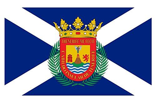 Etaia 5,4x8,4 cm - Auto Aufkleber Fahne/Flagge von Teneriffa Tenerife Spanien Sticker Motorrad Bike Europa Länder