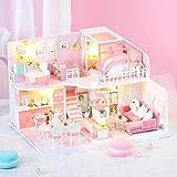 IrahdBowen Kit De Casa De Muñecas En Miniatura DIY Mini Casa De Madera En 3D...