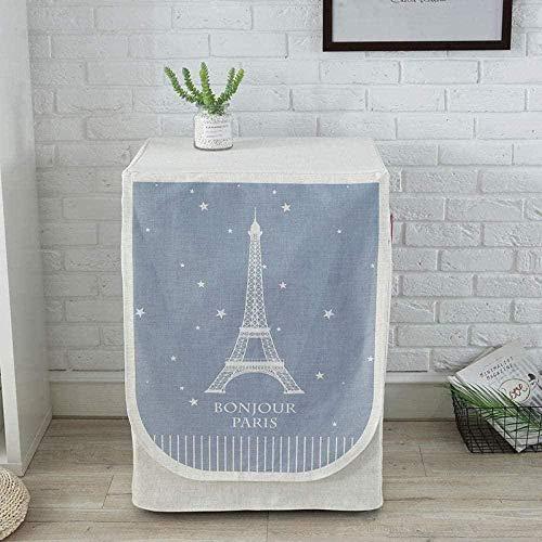 Funda de Lavadora Cubierta impermeable para lavadora Torre Eiffel, lavadora de lino, cubierta protectora para secadora de carga frontal, 60x55x85cm