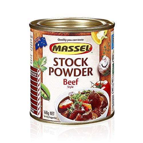 Massel, Stock Powder - Sin MSG, Sin Gluten, Sabor a Carne - 168 Gramos, Paquete de 6 Caldos Enlatados