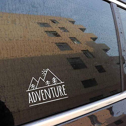 Stukk Stickers Adventure Mountains Auto-Aufkleber, wasserdicht, 17,8 x 14,8 cm - weiß