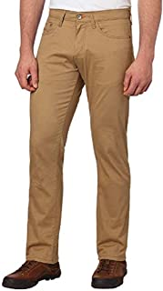 Weatherproof Vintage Men's 5 Pocket Twill Pant (34x32, Khaki)