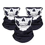 JTDEAL [3 Stück] Motorrad Totenkopf Maske, Sturmmaske, Skull Skelett Maske für Motorrad Fahrrad...