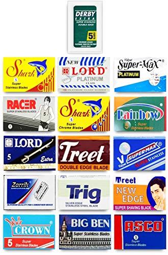 100 Qualität Double Edge Rasierklingen Sampler (16 verschiedene Marken)