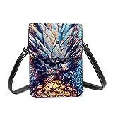 Petit sac à bandoulière en cuir léger pour téléphone portable Motif ananas