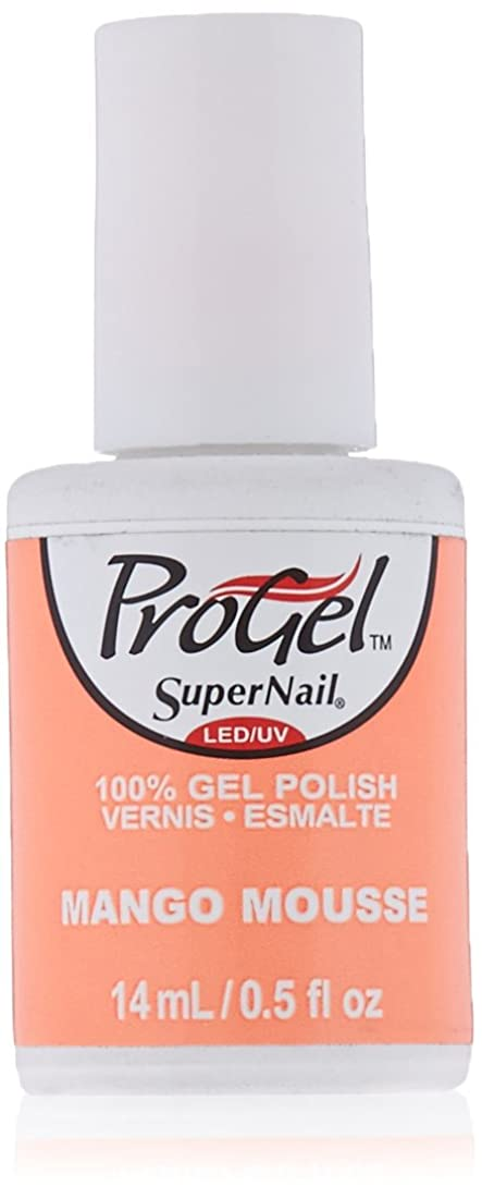 ボーダーキャメル両方SuperNail ProGel Gel Polish - Mango Mousse - 0.5oz / 14ml