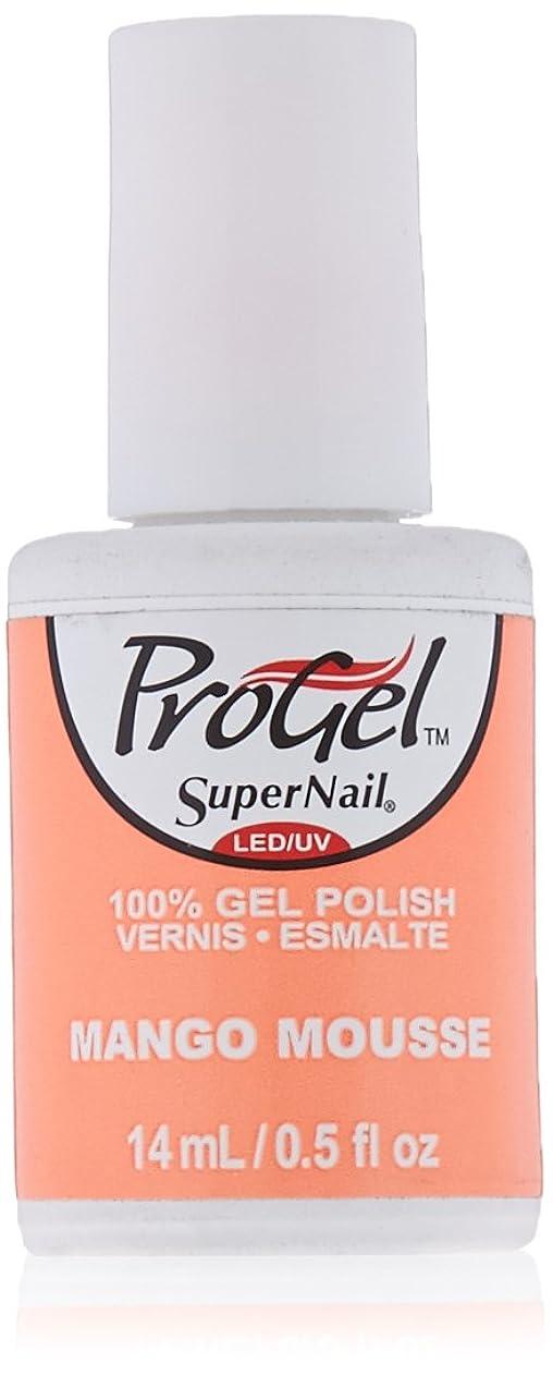 腹部追加調整SuperNail ProGel Gel Polish - Mango Mousse - 0.5oz / 14ml