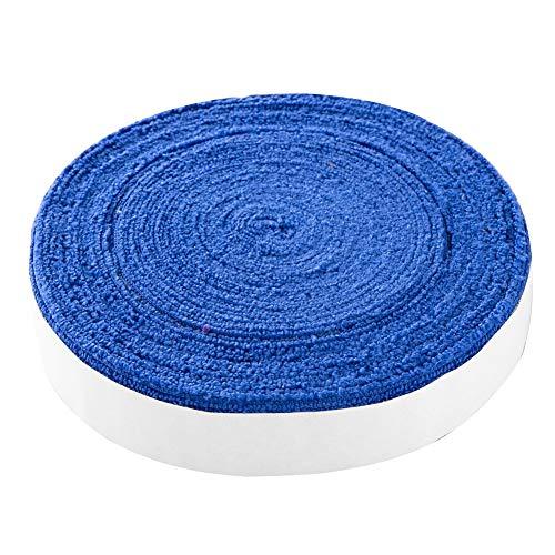 10M Raqueta de Tenis de bádminton Antideslizante Toalla de algodón Agarre Toalla Grande Carrete Empuñadura Roll Overgrip Cinta de Sudor Cintas absorbentes (Color : Azul)