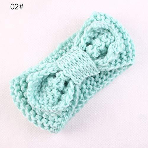 Baby Hoofdband, Strik Baby Meisjes Knit Haarband Peuter Gehaakte Hoofddeksels Haaraccessoires Blauw