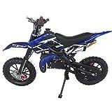 SYX MOTO Kids Dirt Bike Holeshot 50cc Gas Power Mini Dirt Bike (Blue)