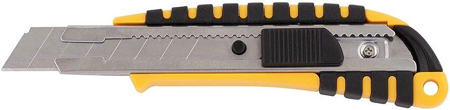 D.RECT 2048 Cuttermesser mit Metallführung Klinge 18mm mit gummiertem Griff Teppichmesser Universalmesser Profi Cutter/Messer, 1