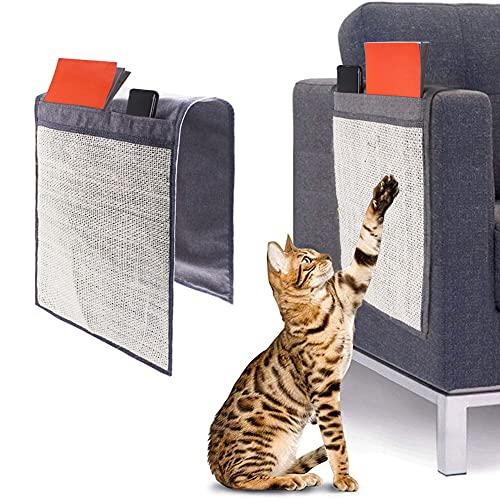 SOBW Kratzschutz Aufbewahrungstasche für Sofas,kratzschutz Sofa ,kratzbretter Katze, Cat Scratch Protector Tape Abschreckung Anti-Scratchmatte Pet-Training-Tool Katzen kratzbrett für Sofa, Tür, Möbel
