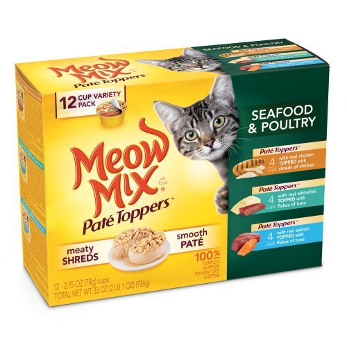 Meow Mix Pate Toppers Seafood and Poultry Variety Pack, 12-Count by del Monte Foods (Pet) (English Manual)