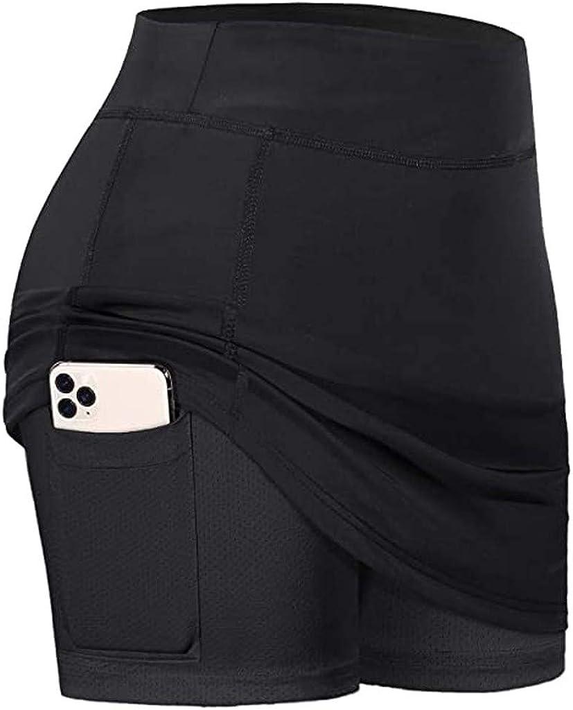 QCool 35% OFF Women's Athletic Tennis Skirts depot Elastic Inner Runnin Shorts