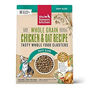 The Honest Kitchen Whole Food Clusters Human Grade Dry Puppy Food – Whole Grain Chicken, 4 lb.