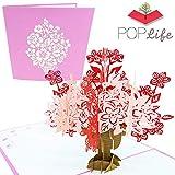 PopLife Cards Bouquet de fleurs et vase fête des mères carte pop up pour toutes les occasions - fête des mères, joyeux anniversaire, remise des diplômes, se rétablissent, anniversaire, fiançailles- r