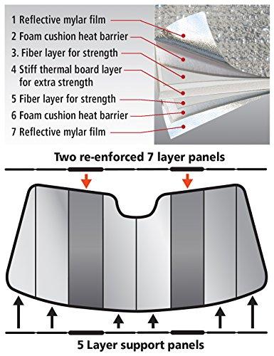Intro-Tech MA-55-P Custom Fit Premium Folding Windshield Sunshade for Select Mazda MX-5 Miata Models, Silver