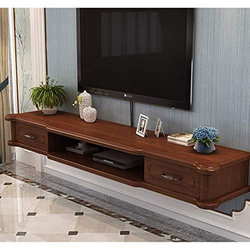 YXZN Soporte De TV Flotante Moderno, Gabinete De TV Montado En La Pared, Centro De Medios De Entretenimiento Colgante, Consola De Almacenamiento, Estante De Almacenamiento Abierto