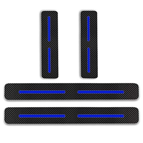 Maiqiken 4 Pièces Voiture Bord de Porte Protection Anti-frottement et Anti-Collision Protection pour XC Class(Fibre de Carbone Bleu)